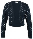 Kaffe ASTRID DOT Cardigan midnight marine/chalk