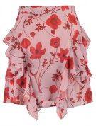 Missguided FLORAL FRILL Minigonna pink