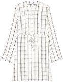 FIND Tie Waist Grid Print  Vestito Donna, Multicolore (Ivory Mix), 50 (Taglia Produttore: XX-Large)