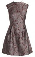 KIOMI BROCADE DRESS Vestito elegante red & silver