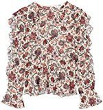 FIND Camicia con Rouche Donna , Multicolore (Cream Mix), 42 (Taglia Produttore: Small)