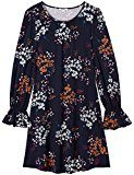 FIND Frill Sleeve Swing  Vestito Donna, Blu (Navy Mix), 46 (Taglia Produttore: Large)