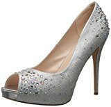 Pleaser Heiress 22r, Scarpe Peep-Toe Donna, Argento (Silver (Slv Shimmering Fabric)), 34 EU