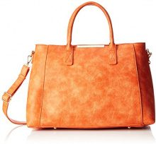 Buffalo BAG BWG-06 Leather PU, Borsa con Maniglia Donna, Arancione (Orange 01), 20 x 30 x 36 cm (B x H x T)