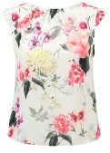 Dorothy Perkins Petite BORDER FLORAL TRIM Tshirt con stampa ivory