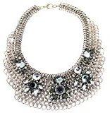 Sweet Deluxe collana da donna in metallo rodiato 45cm argento/cristallo/BL. diamond 3182