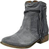 Laufsteg MünchenHW161702 - Stivali a metà polpaccio non imbottiti Donna , Grigio (Grigio (grigio)), 39