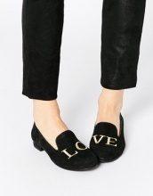 Park Lane - Love - Scarpe a pantofola in pelle scamosciata