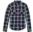 Superdry G40002EP, Camicia Donna, Blu (Navy White Pink Check), Medium (Taglia Produttore:M)