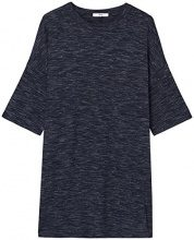 FIND Vestito T-shirt a Manica Corta Donna , Blu (Navy), 40 (Taglia Produttore: X-Small)