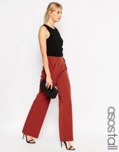 ASOS TALL - Pantaloni con fondo ampio e pieghe in vita