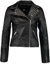New Look STUDDED BIKER Giacca in fintapelle black