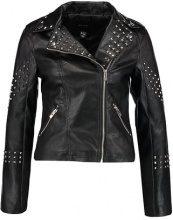 New Look STUDDED BIKER Giacca in fintapelle black