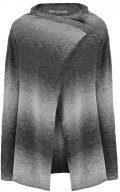 Cardigan - grey melange/offwhite