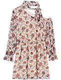 FIND Vestito Monospalla con Rouche Donna , Multicolore (Cream Mix), 48 (Taglia Produttore: X-Large)