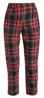 Topshop TARTARN CHECK Chino red