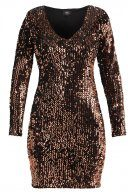 ONLY ONLCONFIDENCE Vestito elegante black/sequins copper