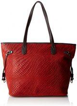 Chicca Borse 80061, Borsa a Spalla Donna, Rosso, 46 x 30 x 17 cm (W x H x L)
