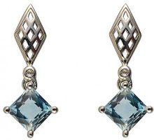 Ivy Gems Donna  925  argento Quadrata   blu Topazio FINEEARRING