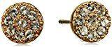 Pilgrim Orecchini da donna Ambience in cristallo taglio rotondo, 0,7 cm - 15153, Placcato oro, colore: Oro, cod. 151532003