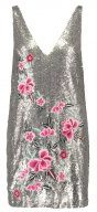 Missguided SEQUIN EMBROIDERY Vestito elegante silver