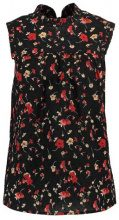 Dorothy Perkins HIGH NECK DITSY FLORAL DOBBY  Camicetta black multi