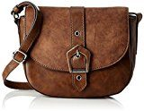 Tamaris Avril Saddle Bag S - Borse a tracolla Donna, Braun (Cognac Comb), 7x13x21 cm (B x H T)