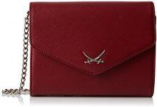 Sansibar Clutch Bag - Pochette da Giorno Donna, Rot (Merlot), 18x14x5 cm (B x H T)