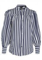 New Look PETER STRIPE YOKE SWING Camicia blue
