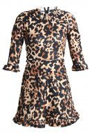 Missguided GATHERED LEOPARD  Vestito di maglina braun