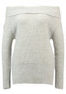 Vila VIMATCHIE OFFSHOULDER Maglione super light grey melange