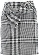 Dorothy Perkins CHECK BOW Minigonna black/white