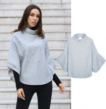 Pullover con perle decorative