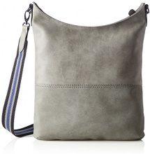 s.Oliver (Bags) Shoulder Bag - Borse a spalla Donna, Grau (Middle Grey), 4.5x38.5x32.5 cm (B x H T)
