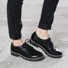 Scarpe stringate con tacchetto quadrato