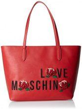 Love Moschino Borsa Calf Pu Rosso - Borse Tote Donna, Rot, 27x44x15 cm (L x H D)