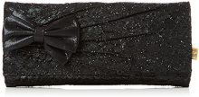 Irregular Choice Patty Bow Clutch - Pochette da giorno Donna, Black, 4x13x29.5 cm (W x H L)