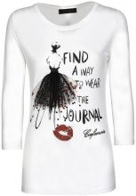 Top Caf? Noir  MJT102 T SHIRT STAMPA RAGAZZA CON GONNA DI TULLE