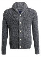 Superdry JACOB SHAWL Cardigan tweed grey twis