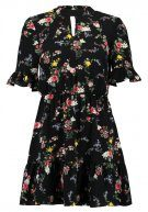 Miss Selfridge Petite BLACK BASED FLORAL TEA  Vestito estivo black