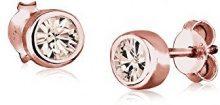Elli donna in argento Sterling 925, placcato oro rosa, 0301930516 Orecchini con cristalli Swarovski
