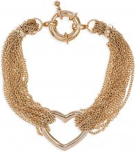 Bracciale Fashionvictime  Bracciale Cuore Donna  - Gioiello Placcato Oro