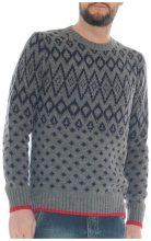 Maglione Luanaromizi.com  Maglia in misto lana filato grosso fantasia geometrica