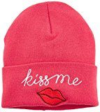 Hilfiger Denim Patch Beanie, Cuffia Donna, Rosa (Holly Berry 509), Taglia Unica