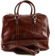 Borsa da viaggio Dream Leather Bags Made In Italy  Borsa Viaggio In Pelle Colore Rosso - Pelletteria Toscana Made I