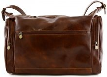 Borsa da viaggio Dream Leather Bags Made In Italy  Borsa Viaggio In Vera Pelle 2 Tasche Laterali Colore Marrone - P