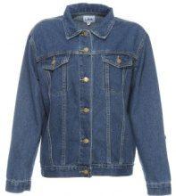 Giacca di jeans con linguette e bottoni