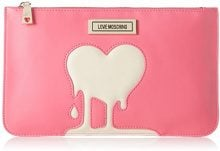 Love Moschino JC5306, Clutch Donna, Multicolore (Pink/Ivory), 1x17x28 cm (B x H x T)
