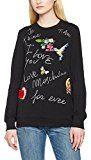 Love Moschino Sweatshirts, Felpa Donna, Nero (Black C74), 40 (Taglia Produttore: 44)