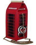 Borsa da Donna Pop Art Cabina Telefonica Pochette Clutch con Tracolla